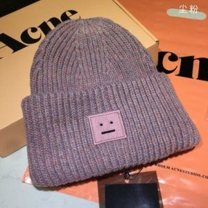 ☀Acne Studios Pansy Beanie Dusty Pink